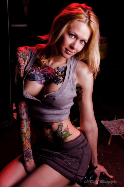 What can i say i love chicks with heavy tattoo work.